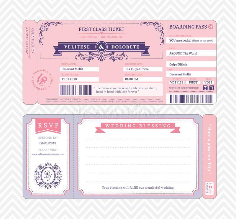 Boarding Pass Wedding Invitation Template Boarding Pass Ticket Wedding Invitati Spon Wedding Pass Boarding Kartu Nama Kartu Nama Bisnis Kartu Kertas