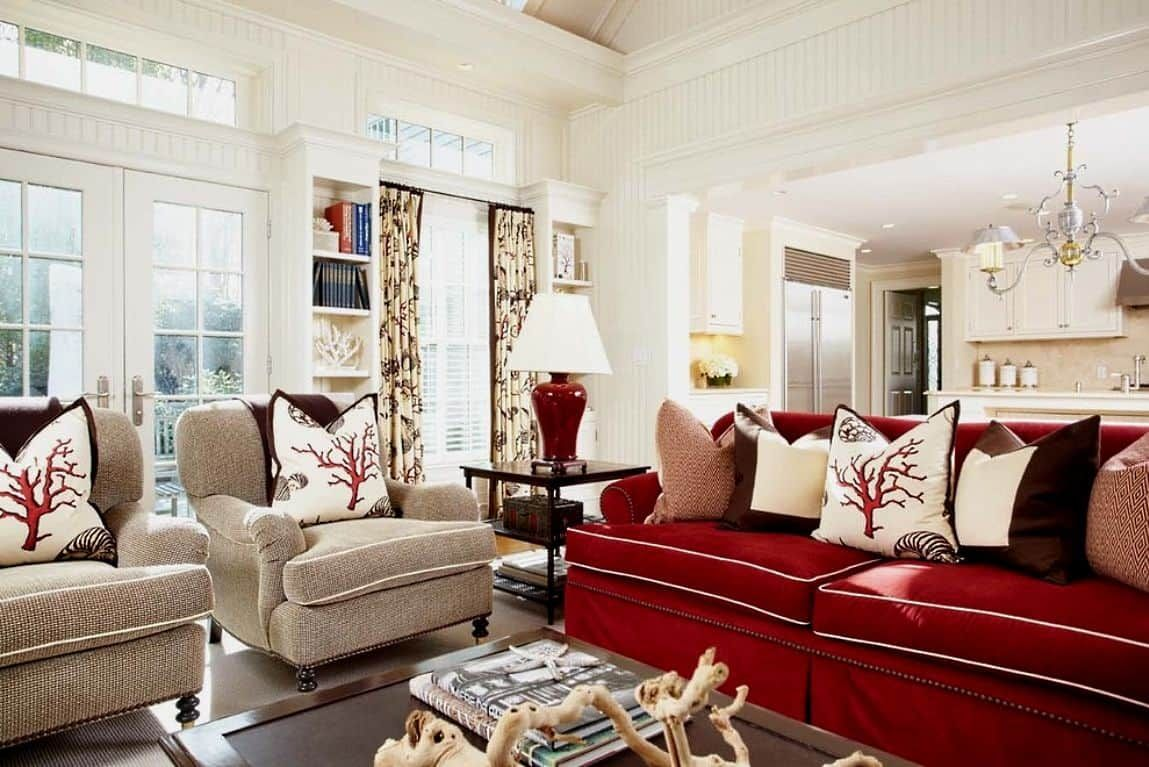 Ideas To Accessorizing Your Red Sofa Red Couch Living Room