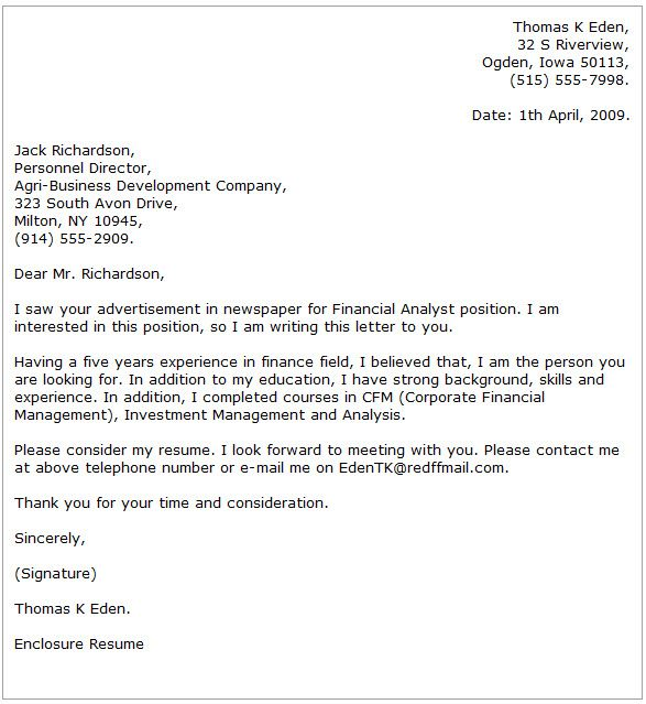 cover letter example business analyst job analysis practitioner - business analyst cover letter