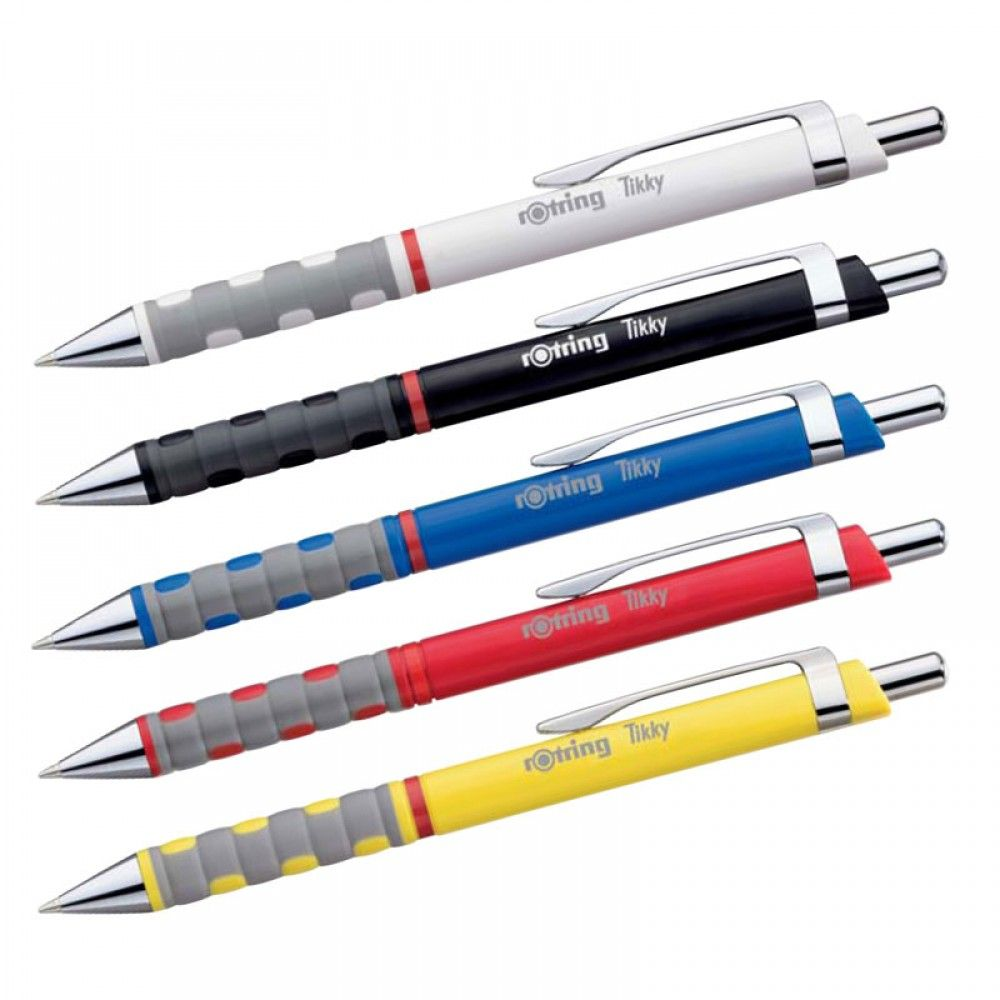 Rotring Tikky 0.7mm Mechanical Pencil Blue And Purple 2pk