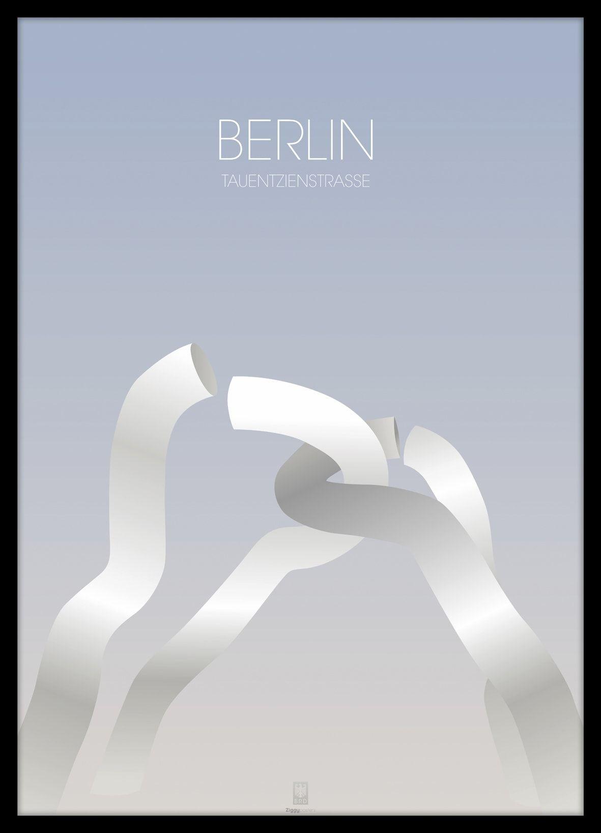 Premium Poster in Graphic Art Stil, in hochwertigen Holz gerahmt und ...