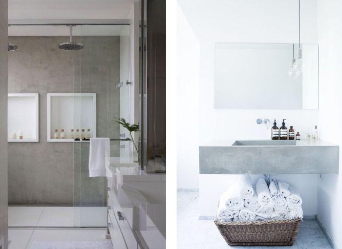 Betonstuc in de badkamer | Bathroom | Pinterest | Interiors