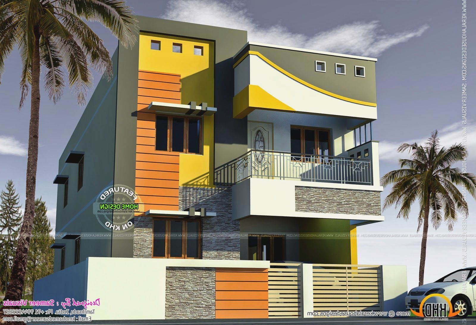 Tamilnadu house models more picture tamilnadu house models for Home front design model