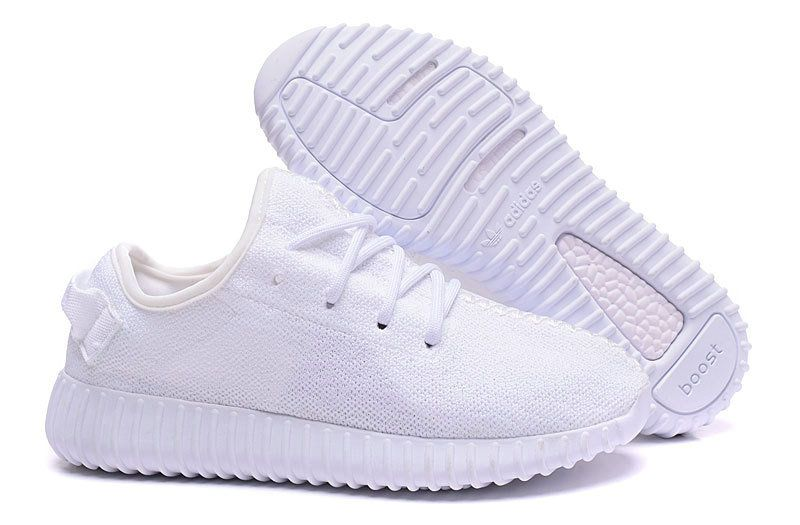 e28b563a6605 WMNS Adidas Kanye West Yeezy Boost 350 All White