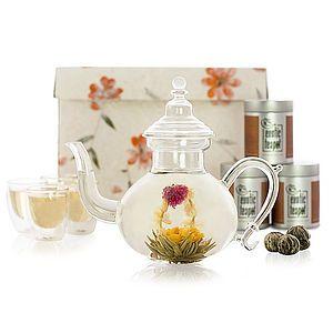 Oriental Glass Flowering Tea Set