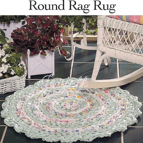 FREE RAG RUG CROCHET PATTERN | Easy Crochet Patterns | HOMEMADE RUGS ...