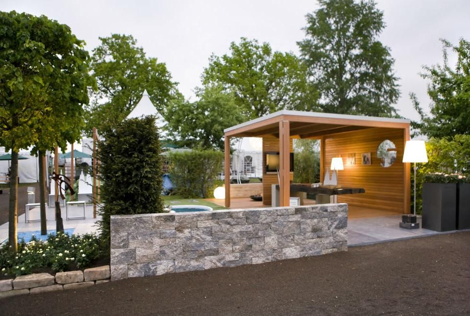 gartenpavillon holz modern wohn design. Black Bedroom Furniture Sets. Home Design Ideas
