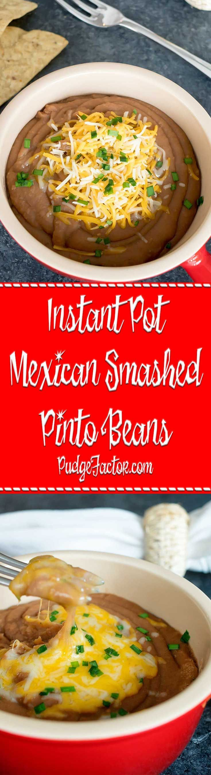 Photo of Instant Pot Mexican Smashed Pinto Beans