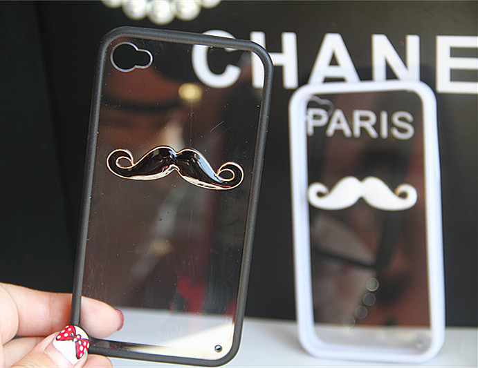 I must Mustache you a question... (black and white) #mustache #funky #black #white #phone #case