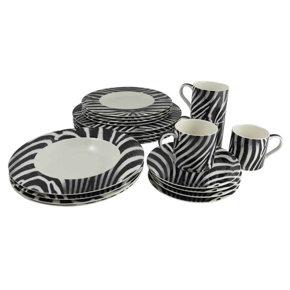 Zebra 20 Piece Dinnerware Set! Omg!  sc 1 st  Pinterest & Zebra 20 Piece Dinnerware Set! Omg! | ♥Zebra♥ | Pinterest ...