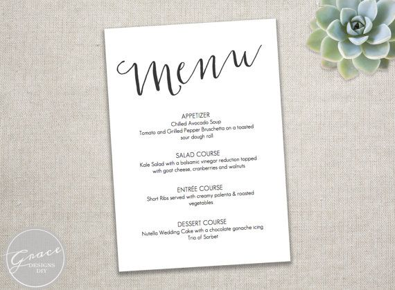 dinner party menu template word - Intoanysearch - party menu template