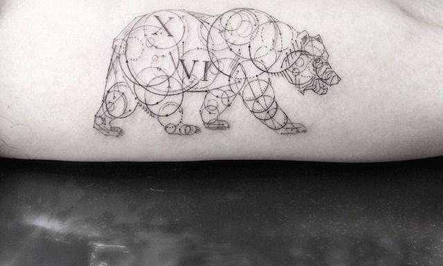 Elegant Geometric Tattoos -12