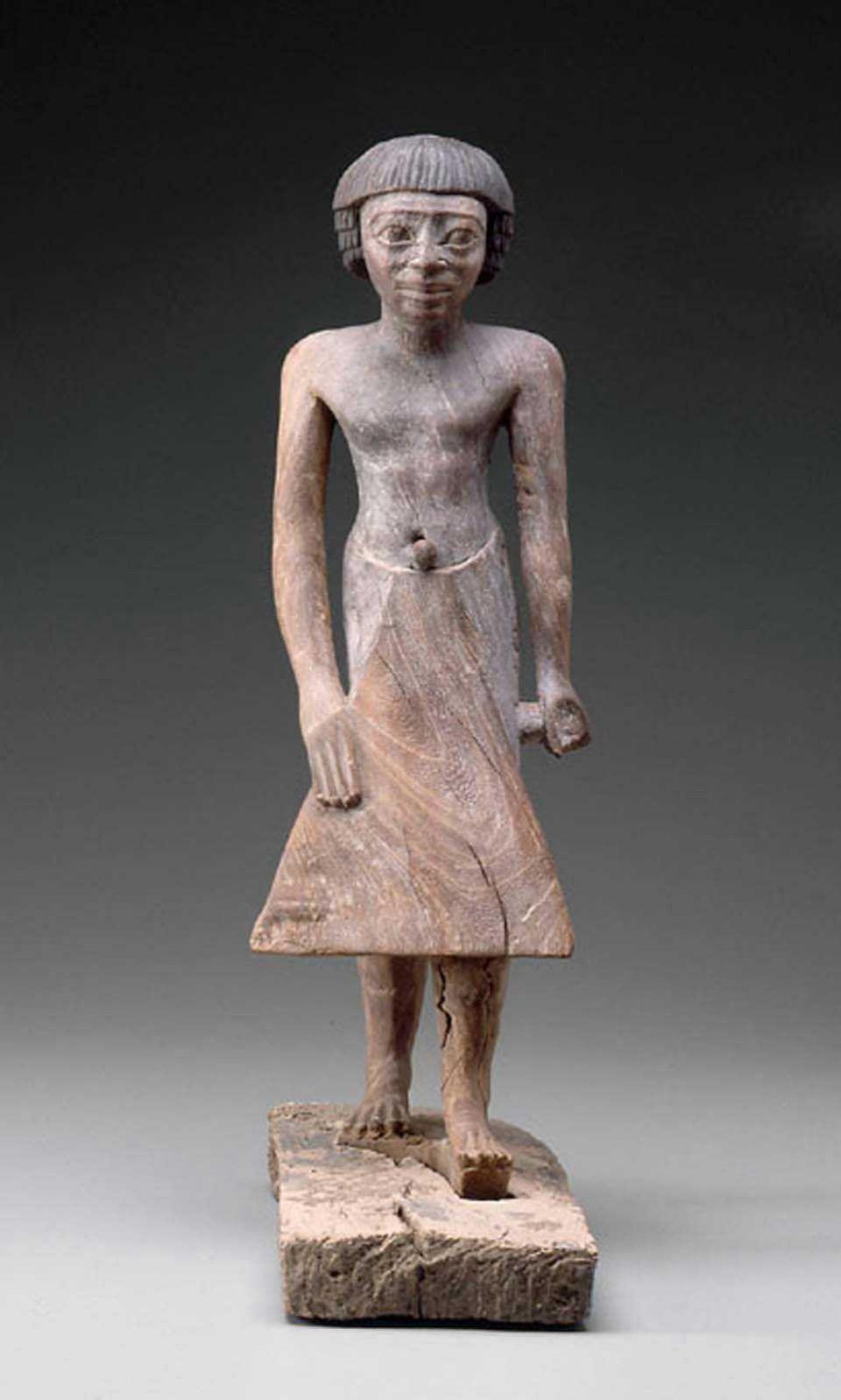 Egypt Nigeria Standing Figure Of Tjetety Kingdom Dynasty 6 Mfa Museum Boston In