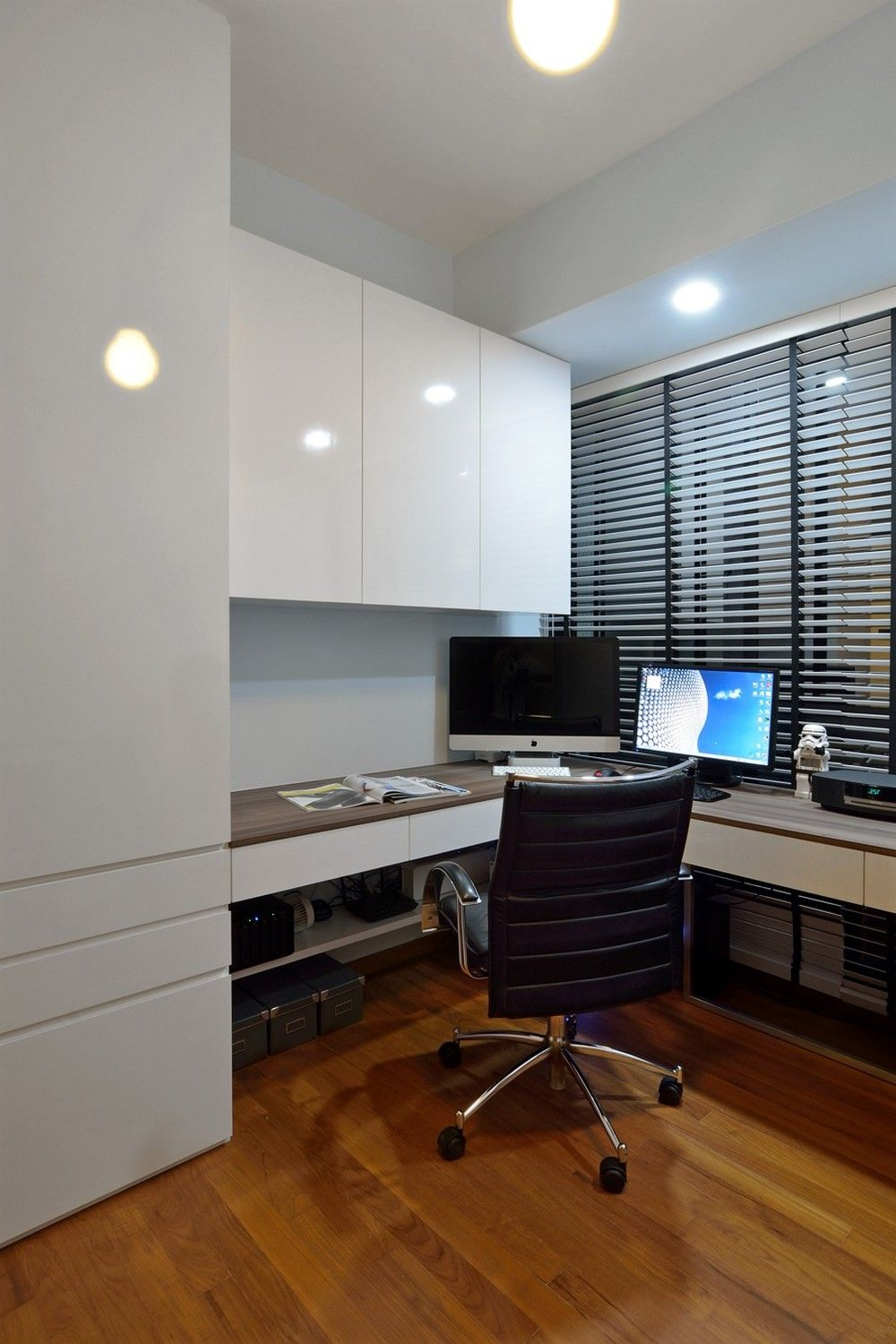 Singapore Hdb Room With Study Table: Singapore Modern Study Room Design\