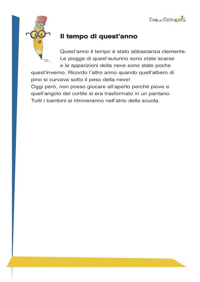 Dettato Con Apostrofo Scuola Primaria Dettati Ortografici