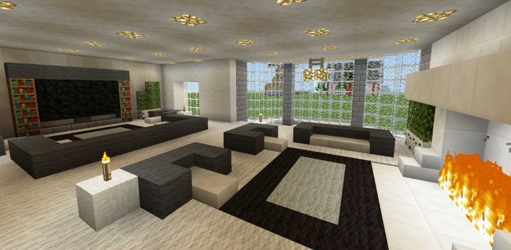 Minecraft Modern Living Room Minecraft Interior Design Living Room In Minecraft Minecraft Room