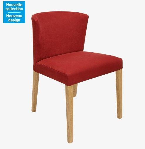 Valentina Chaise rouge en tissu et chªne Habitat prix Chaises