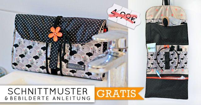 kulturtasche reisekosmetik hanging3 n hanleitung und schnittmuster schnittmuster und. Black Bedroom Furniture Sets. Home Design Ideas