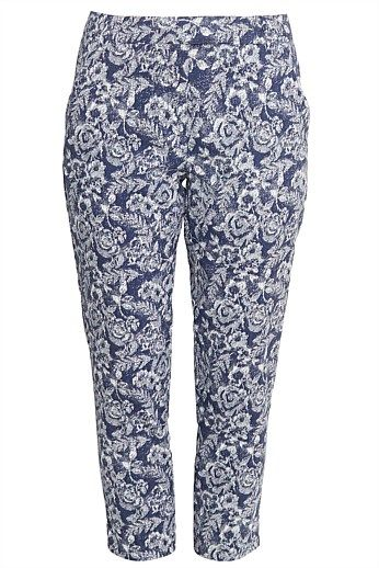 Printed Tapered Pants - Designer Women's Clothes Online
