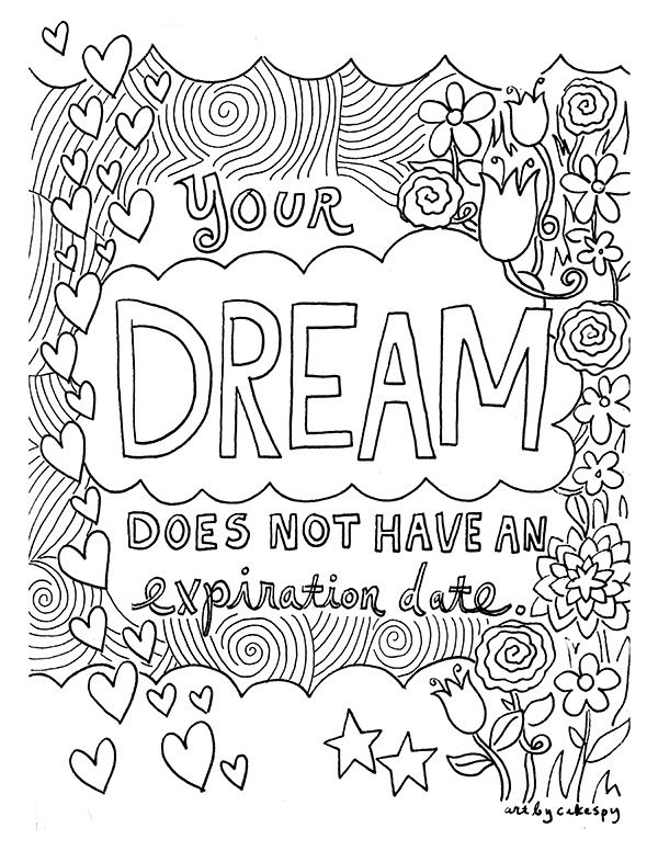 Free Coloring Book Pages For Grown Ups Inspiring Quotes Quote