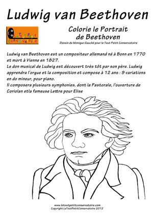Beethoven Eveil Musical Dessin Coloriage Musique Eveil Musical Ludique Coloriage Musique Musique Compositeurs