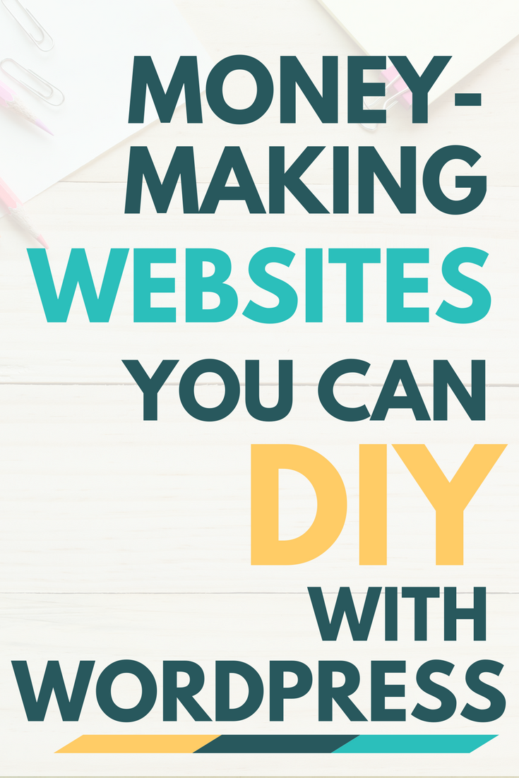 Money making websites you can diy with wordpress work for Website where you can build your own house