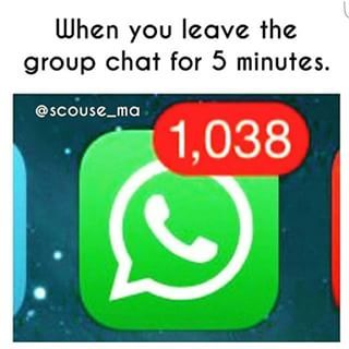 27 Things You Only Understand If You Re In A Group Chat Whatsapp Group Funny Funny Quotes Group Chat Meme