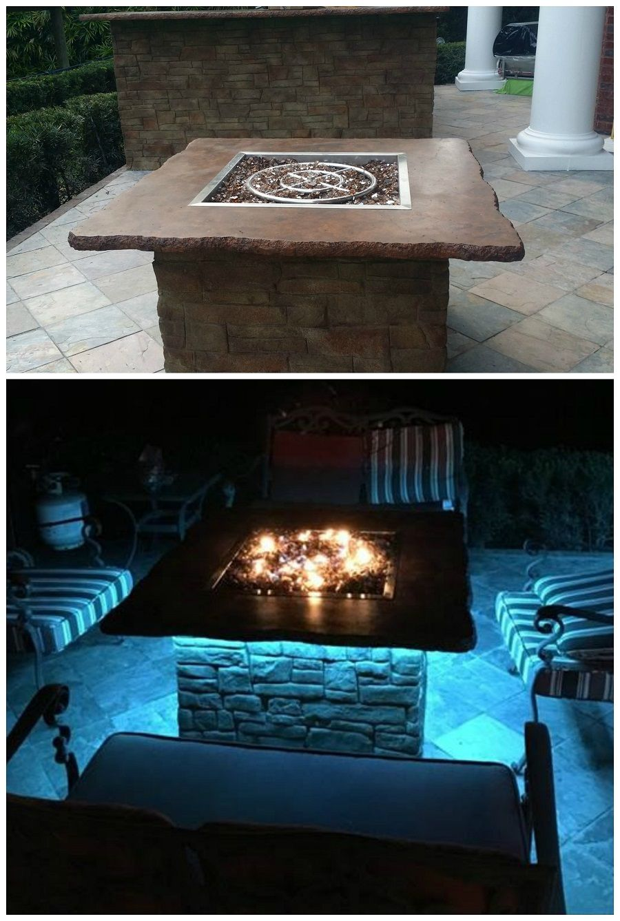 Fire pits led orlando kissimmee florida outdoor entertaining