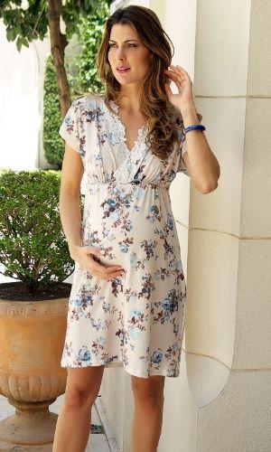055eda09a Camisola ou pijama para usar na maternidade  Inspire-se nessa ...