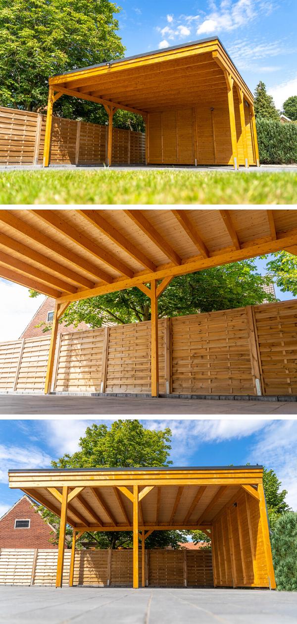 Flachdach Carport aus Holz in 2020 Carport holz, Carport