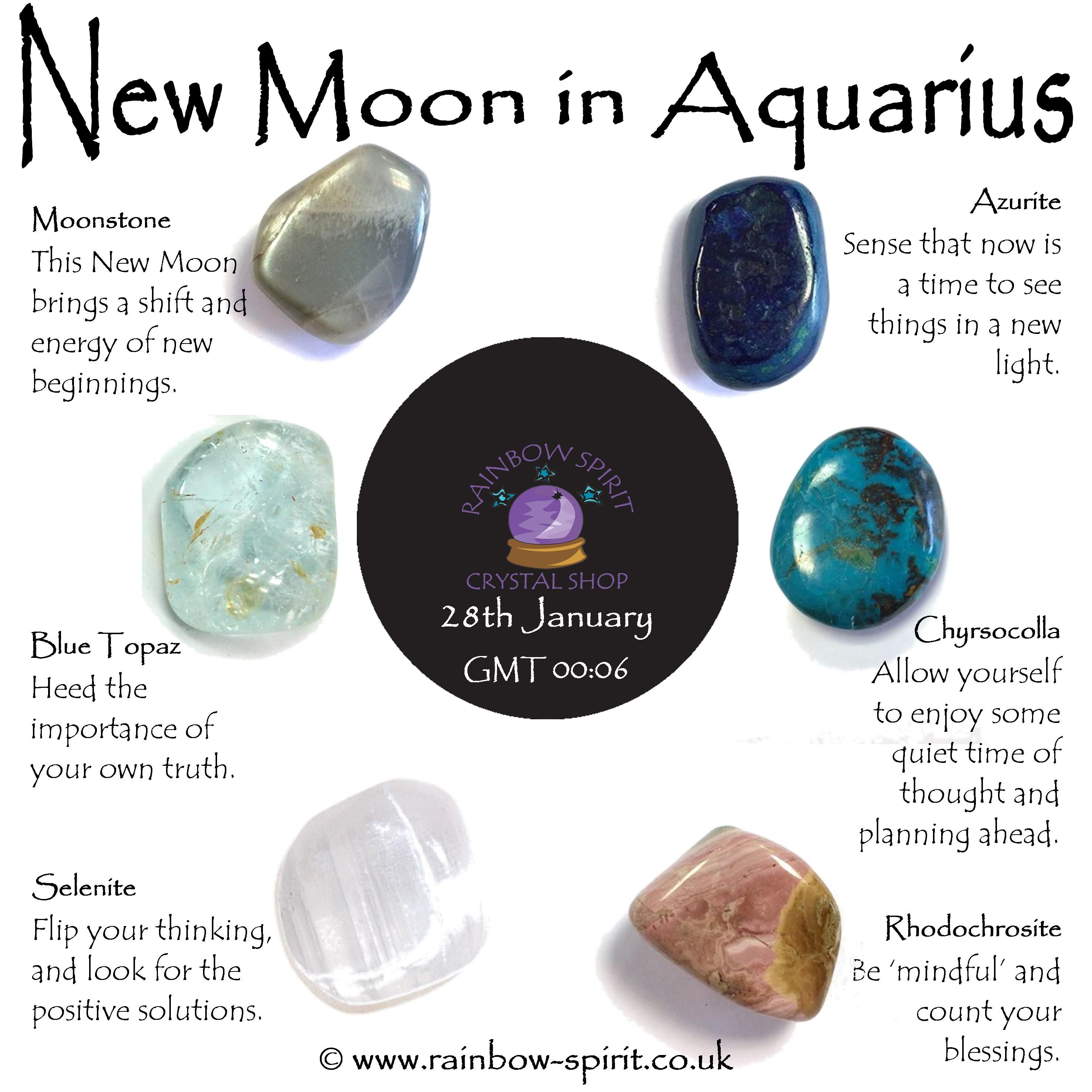 healing stones and my perspective on the new moon
