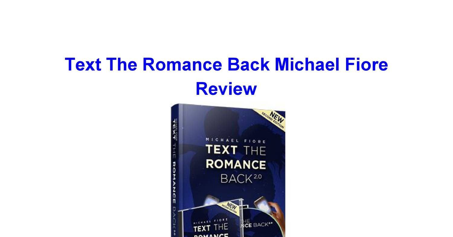 49d8e761a47 Text The Romance Back Michael Fiore Review Relationship Expert