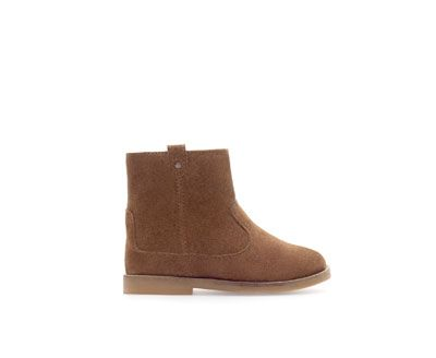 ZARA - KIDS - Leather boot with lining