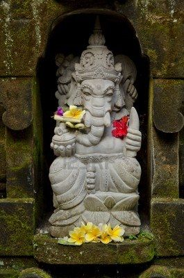 ganesh statue in bali indonesia temple  ganesh statue