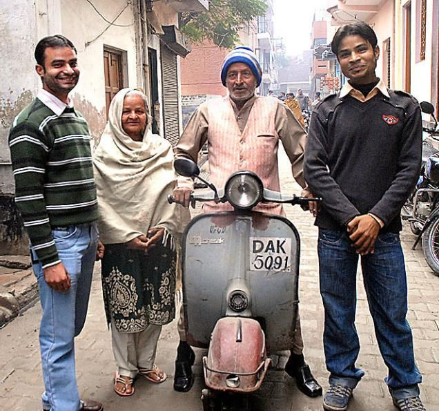Bajaj Chetak Scooter Images From Front With Two Persons Google