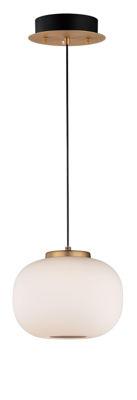 """ET2 Soji 9"""" 2 Light Single Pendant in Black / Gold - E25065-92BKGLD"""
