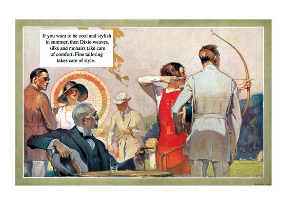 A 1920s Summer Archery Party (1920s H.Paus Fashion Fashion Greeting Cards)