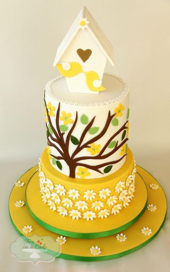 Birdhouse cake in yellow | AMAZING CAKES & SUGAR CREATIONS! MY NEW ...
