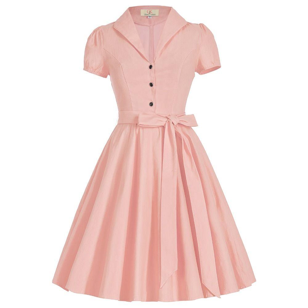Fashion Women Dresses 2017 New Retro Vintage 50s Dress Pinup Wiggle ...