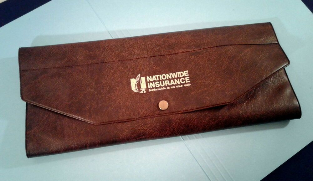 Nationwide Insurance Tri Fold Office Document Holder Vintage