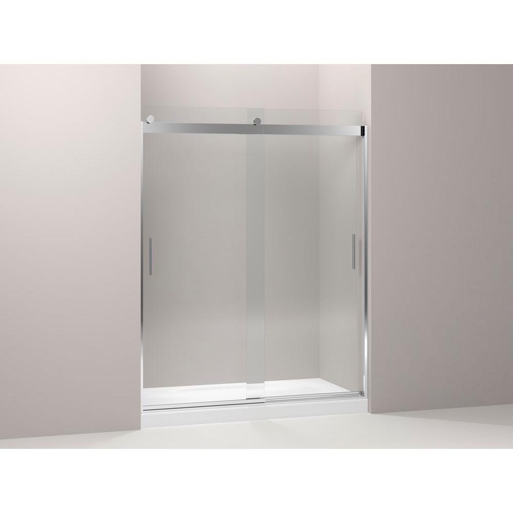 KOHLER Levity 60 1/4 Shower Door with Handle | Frameless, The o ...