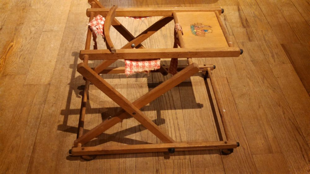 Vintage Antique Baby Walker Wood