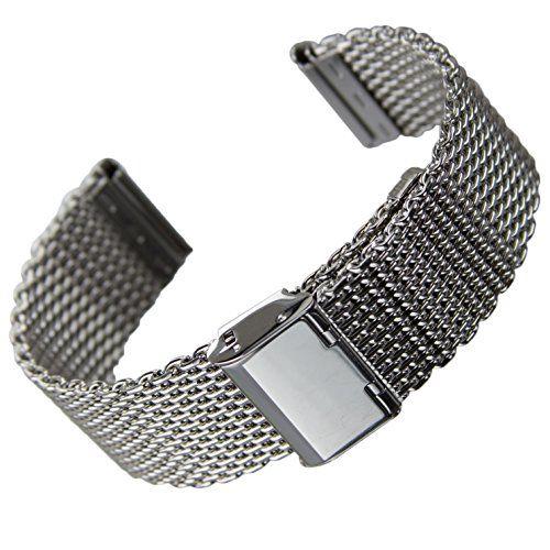De Acier Milanaise22mm Bracelet InoxydableMaille En Montre H2DYIeEW9