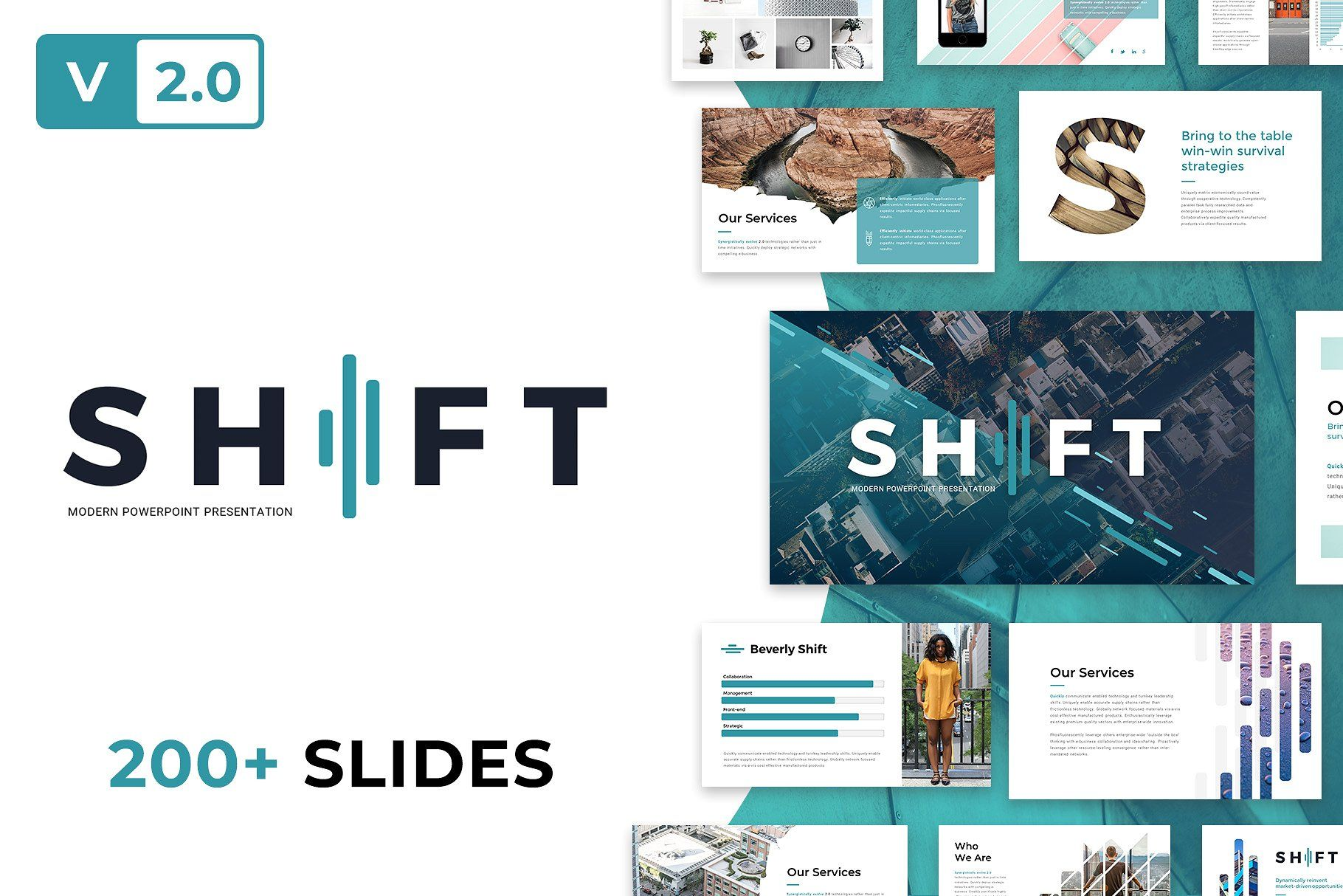 Shift Modern Powerpoint Template Powerpoint templates