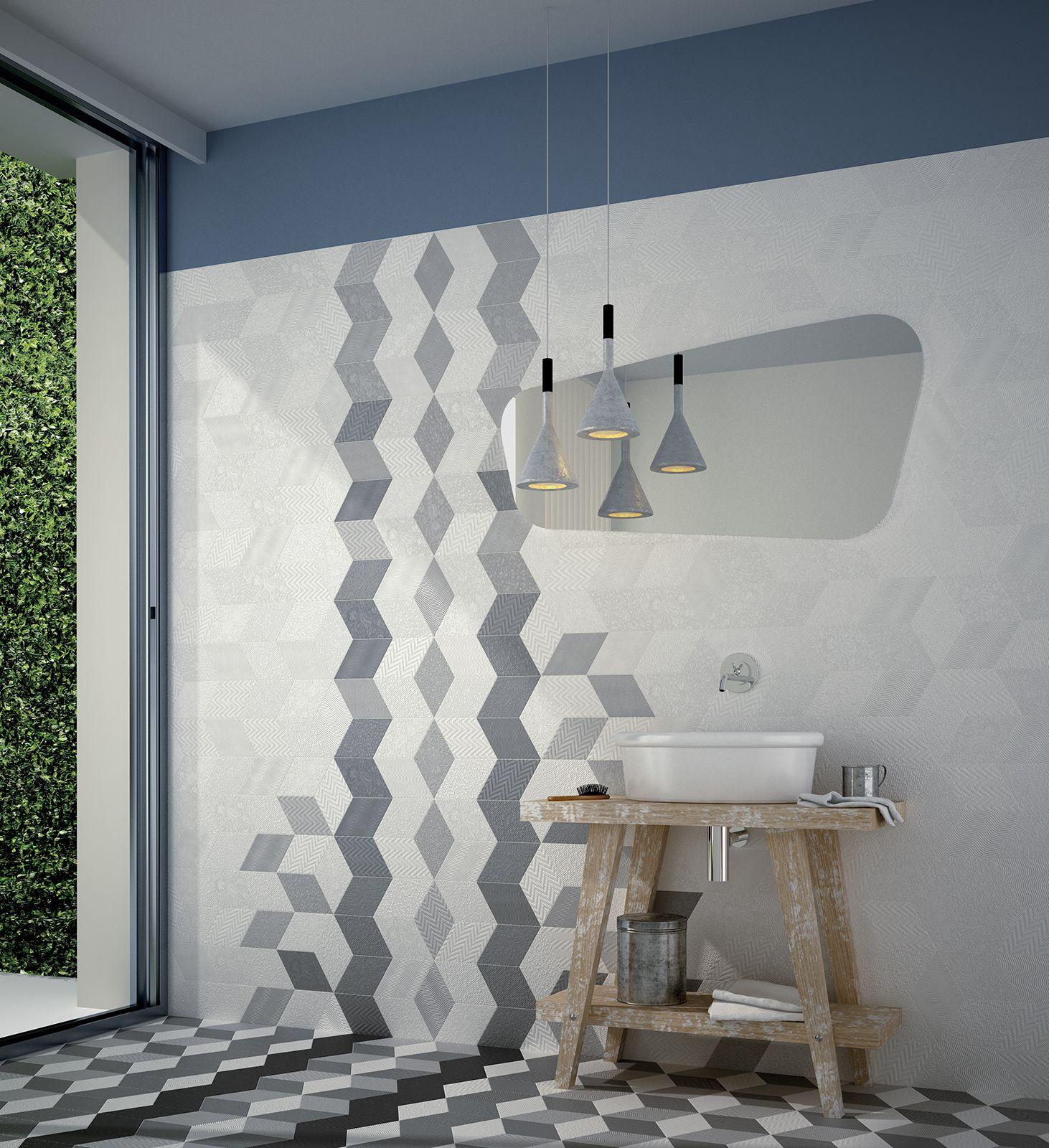rhombus white, rhombus grey, rhombus black nais.es | Łazienka