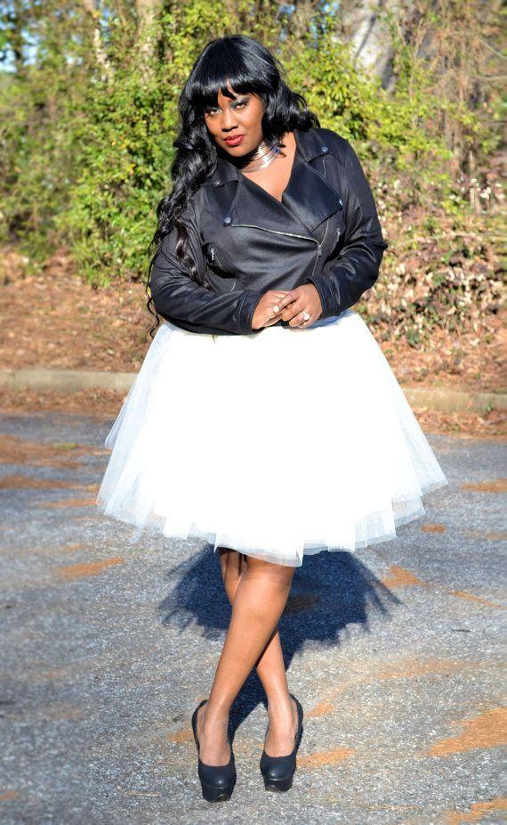 tulle tutu skirt - ivory plus size!!!! | my style | pinterest