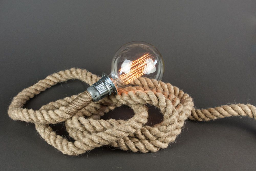 Industrial retro vintage style marine rope light 4mplugin yarn cord industrial retro vintage style marine rope light 4mplug in yarn cord flex pendant mozeypictures Gallery