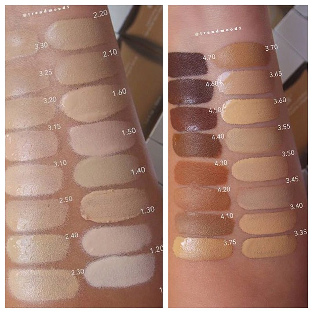 Swatches der beautyblender Bounce Foundation Think
