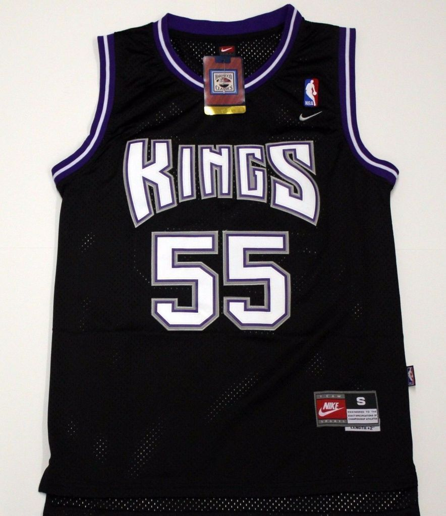 c70c0e4f4c0c Men 55 Jason Williams Jersey Black Sacramento Kings Throwback Swingman
