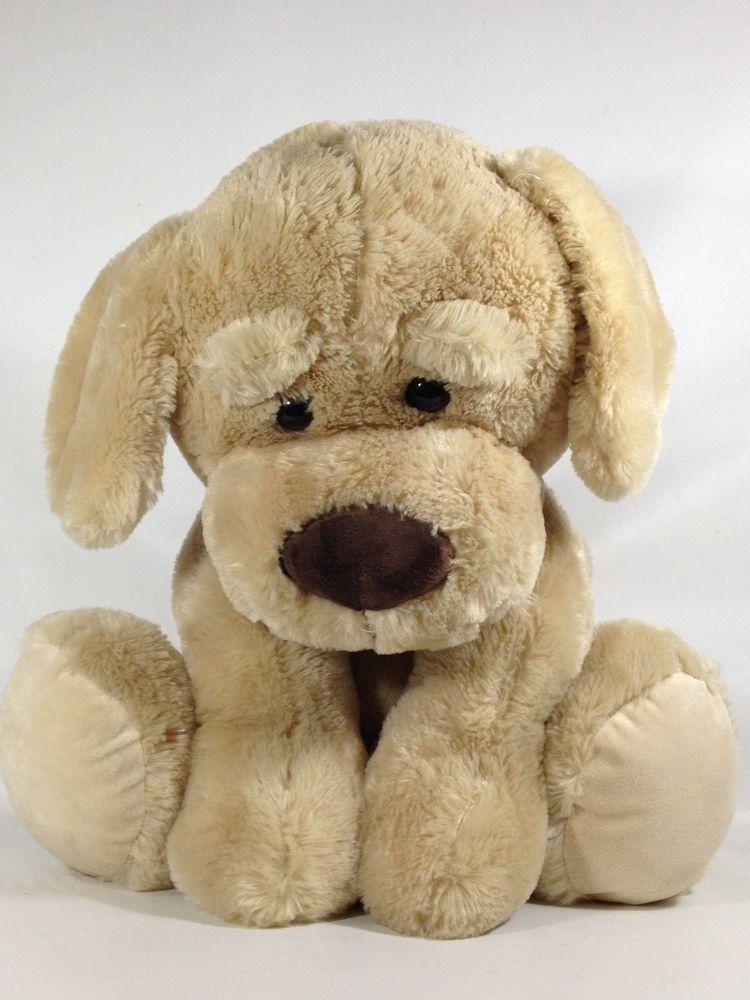Jumbo Kellytoy Puppy Dog Golden Brown Retriever Plush Stuffed